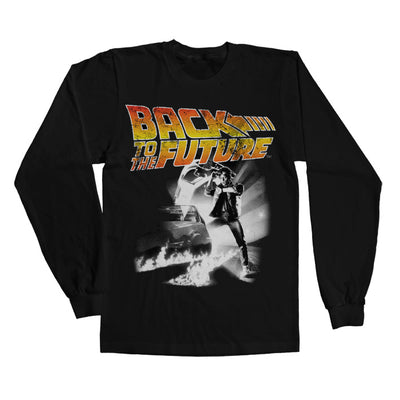 Back To The Future Poster Long Sleeve T-Shirt