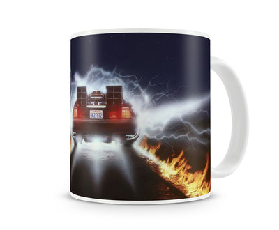 Delorean Fire Tracks Coffee Mug