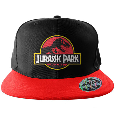 Jurassic Park Baseball Adjustable Size Snapback Cap (Black/Red)