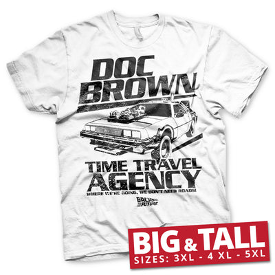 Doc Brown Time Travel Agency Big & Tall Mens T-Shirt