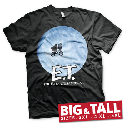 E.T. Bike In The Moon Big & Tall Mens T-Shirt