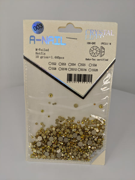 A-Nail Crystal M-Foiled Hot fix 1440pcs