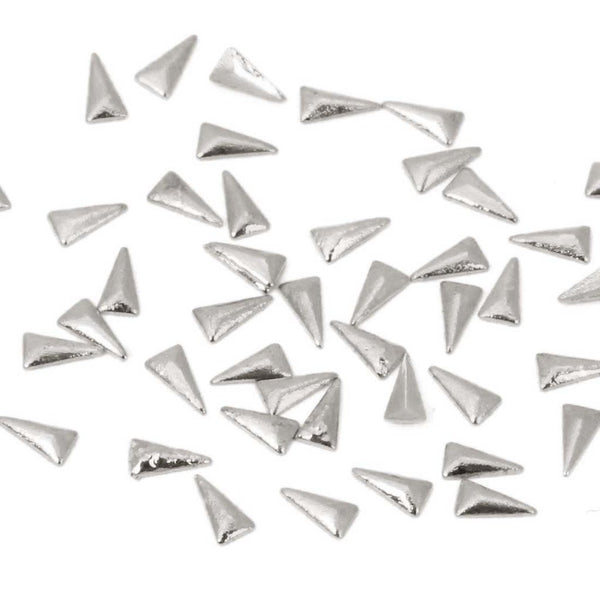 BMC 100pc Mini Metal Alloy Tribal Triangle Nail Art Studs