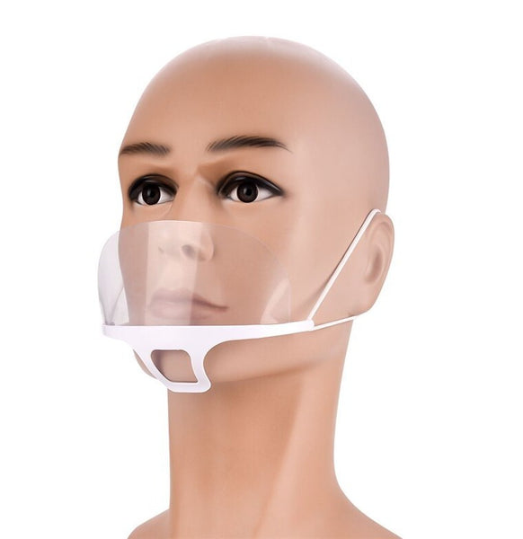 Spit Guard Mouth Mask With Transparent Screen
