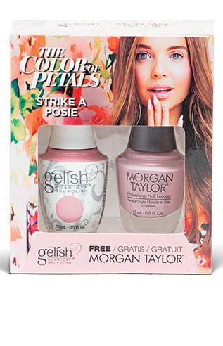 Gelish Two Of A Kind The Color Of Petals Collection Gel Polish & Nail Lacquer Matching Set  - Holiday & Winter 2018
