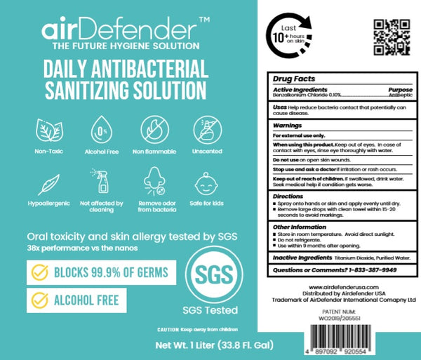 AirDefender Daily Antibacterial Protection Spray