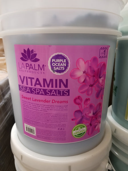 La Palm - ORGANIC  VITAMIN SEA SPA SALTS Sweet Lavender Dreams 5 Gallon  - For Hawaii Only