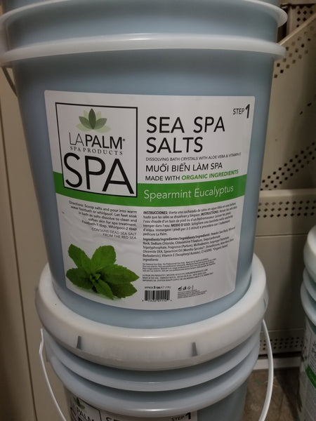 La Palm - ORGANIC  VITAMIN SEA SPA SALTS Spearmint Eucalyptus 5 Gallon  - For Hawaii Only