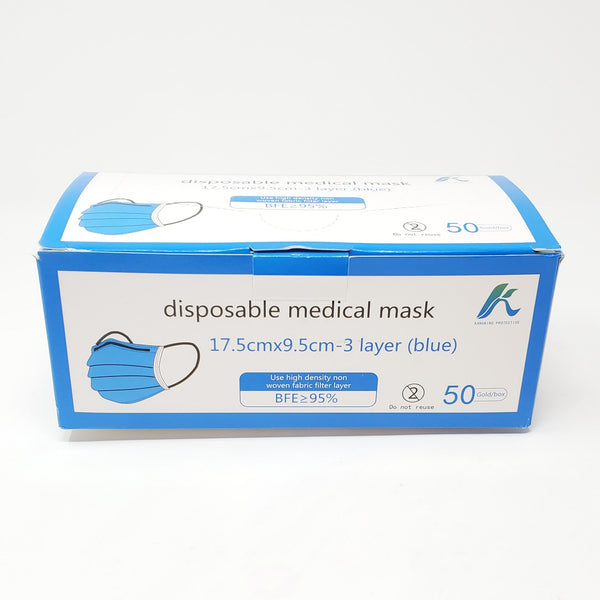 KP 3-Ply Fluid Resistant FDA Disposable Face Mask