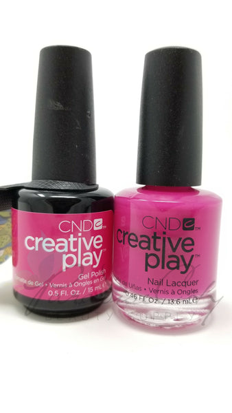 CND Creative Play Matching Gel Polish & Nail Lacquer - #409 Berry Shocking