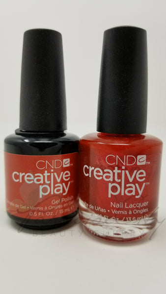 CND Creative Play Matching Gel Polish & Nail Lacquer - #419 Persimmon-Ality