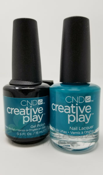CND Creative Play Matching Gel Polish & Nail Lacquer - #432 Head Over Teal