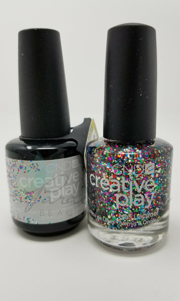 CND Creative Play Matching Gel Polish & Nail Lacquer - #449 Glittabulous