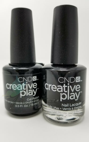 CND Creative Play Matching Gel Polish & Nail Lacquer - #451 Black & Forth