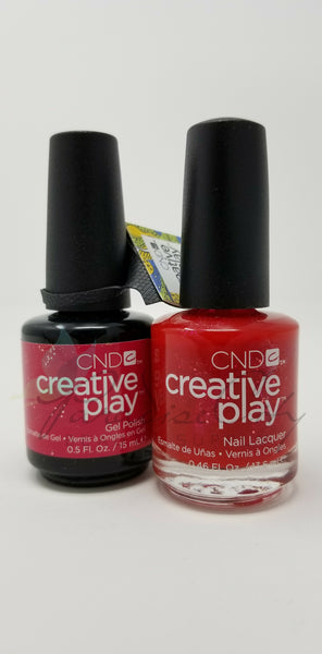 CND Creative Play Matching Gel Polish & Nail Lacquer - #486 Reverly Red