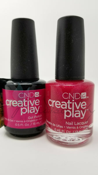 CND Creative Play Matching Gel Polish & Nail Lacquer - #496 Cherry-Glo-Round