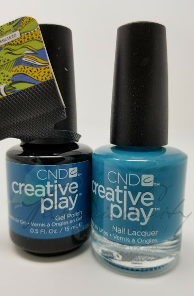 CND Creative Play Matching Gel Polish & Nail Lacquer - #503 Teal The Wee Hours