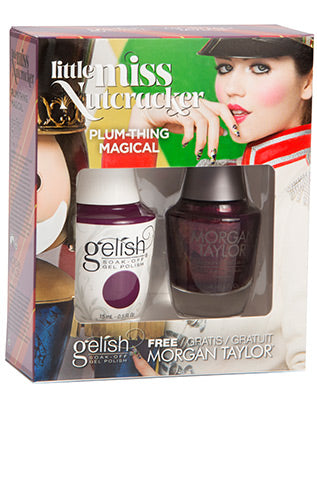 Gelish Little Miss Nutcracker Matching Gel Polish & Nail Lacquer - Plum-Thing Magical