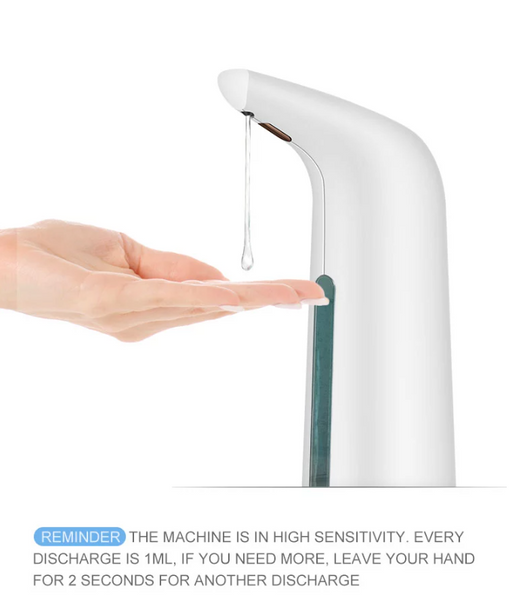 White Automatic Smart Sensor Touch-less Gel/Soap Dispenser