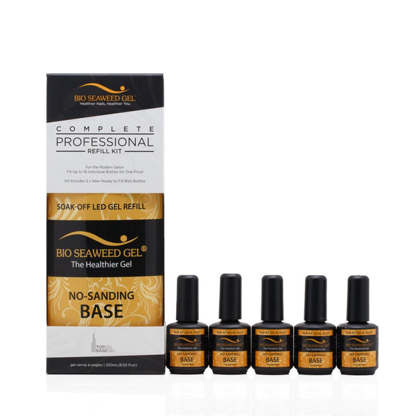 Bio Seaweed Gel - NO-SANDING BASE GEL COMPLETE REFILL KIT (250 mL/8.50 fl oz)