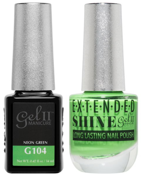 La Palm - ES104 Neon Green Gel II LONG LASTING NAIL POLISH