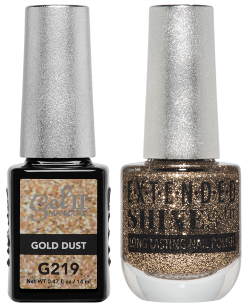 La Palm - ES219 Gold Dust Gel II LONG LASTING NAIL POLISH