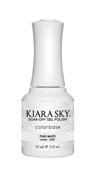 Kiara Sky Gel Polish - G401 PURE WHITE KS GEL POLISH