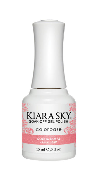 Kiara Sky Gel Polish - G419 COCOA CORAL KS GEL POLISH