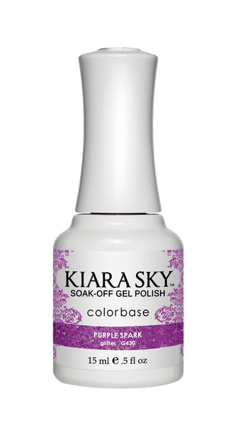 Kiara Sky Gel Polish - G430 PURPLE SPARK KS GEL POLISH
