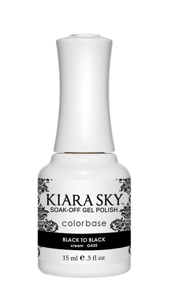 Kiara Sky Gel Polish - G435 BLACK TO BLACK KS GEL POLISH