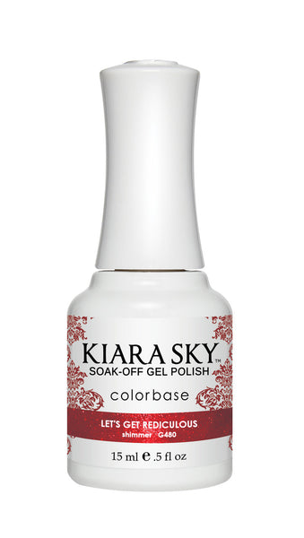 Kiara Sky Gel Polish - G480 LET'S GET REDICULOUS