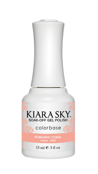 Kiara Sky Gel Polish - G490 ROMANTIC CORAL
