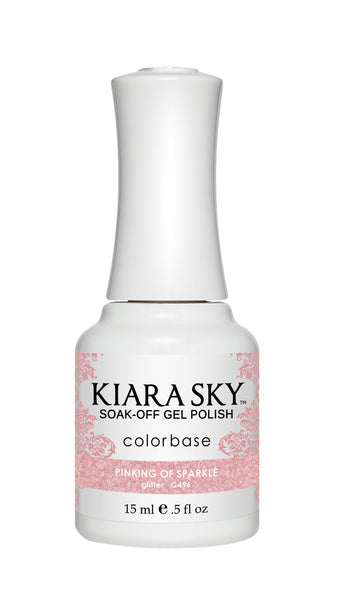 Kiara Sky Gel Polish - G496 PINKING OF SPARKLE
