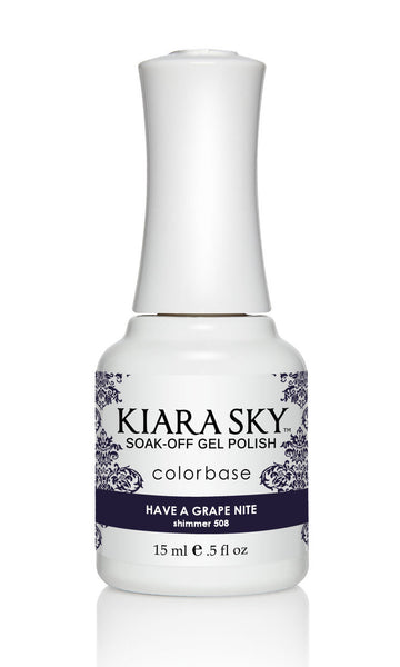 Kiara Sky Gel Polish - G508 HAVE A GRAPE NITE KS GEL POLISH