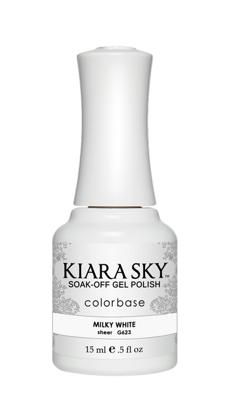 Kiara Sky Gel Polish - G623 MILKY WHITE