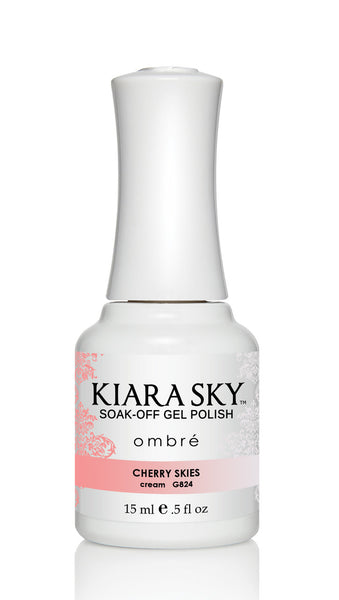 Kiara Sky Gel Polish Ombre - G824 CHERRY SKIES