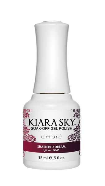 Kiara Sky Gel Polish Ombre - G840 SHATTERED DREAM