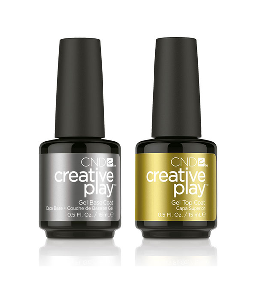 CND Creative Play - Gel Base Coat & Gel Top Coat Duo