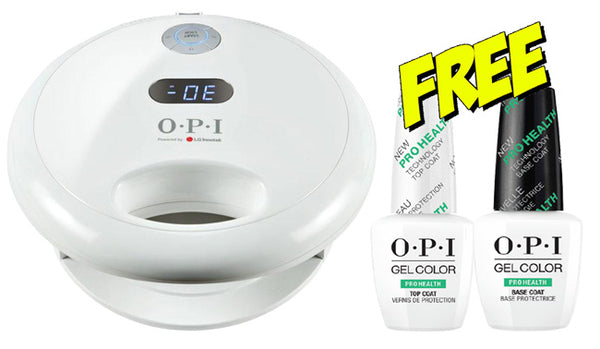 OPI Professional Dual Cure LED Light with TruCure Technology *Bonus* ProHealth Base & Top Coat