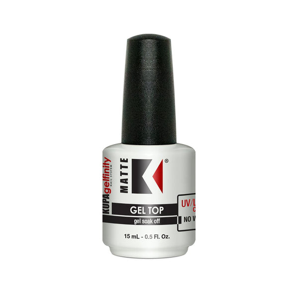 KUPA Gelfinity Matte Gel Non Wipe Top Coat