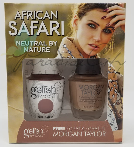 Gelish Soak Off Gel Polish & Morgan Taylor Matching - African Safari Collection