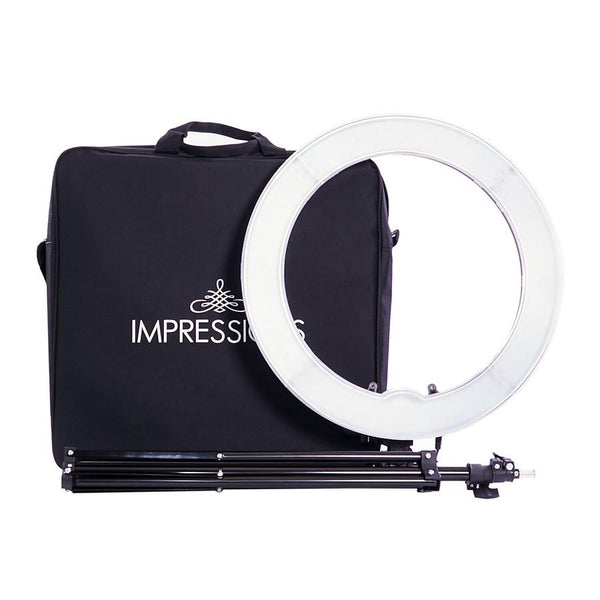 Impressions 18-Inch Dimmable LED Vanity Studio Ring Light w/ Stand, Bag & Accessories