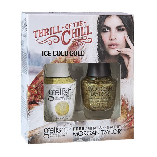 Gelish Thrill Of The Chill Matching - Ice Cold Gold