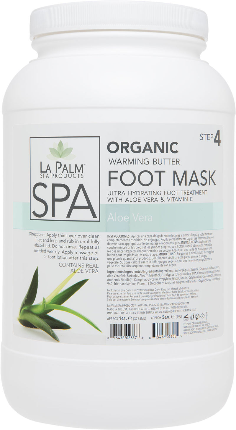 La Palm - Warming Butter Foot Mask - Aloe Vera