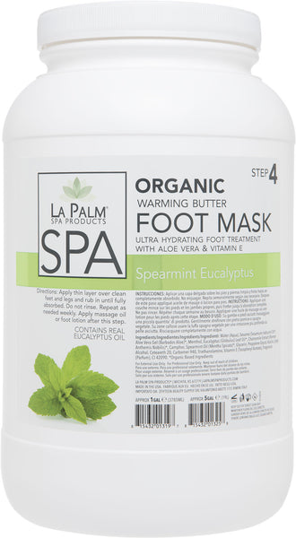 La Palm - Organic Warming Butter Foot Mask - Spearmint Eucalyptus - 1 & 5 Gallon For Oahu Only