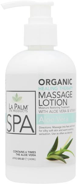 La Palm - Organic HT Massage Lotion Aloe Vera & Vitamin E - 1 Gallon & Case For Oahu Only