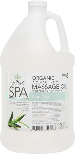 La Palm - Organic Aromatherapy Massage Oil Aloe Vera & Vitamin E - For Hawaii Only