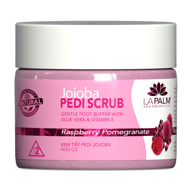 La Palm - Organic Jojoba Pedi Scrub Raspberry Pomegranate - (5 Gallon For In Store Oahu Purchase Only)