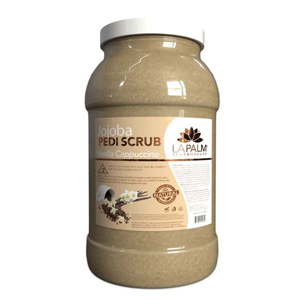 La Palm - Organic Jojoba Pedi Scrub Vanilla Cappuccino - (5 Gallon For Oahu In Store Purchase Only)