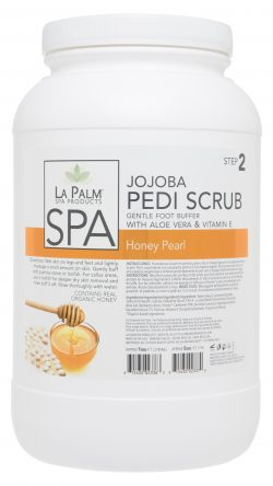 La Palm - Organic Jojoba Pedi Scrub Honey Pearl - 1 & 5 Gallon For Hawaii Only